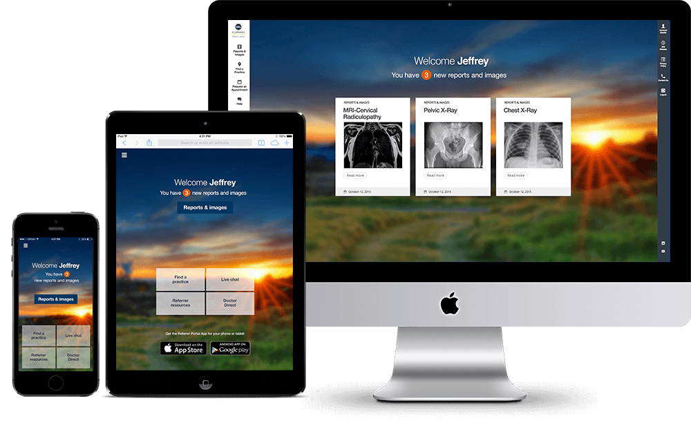 Responsive patient app and portal for IRG - 1