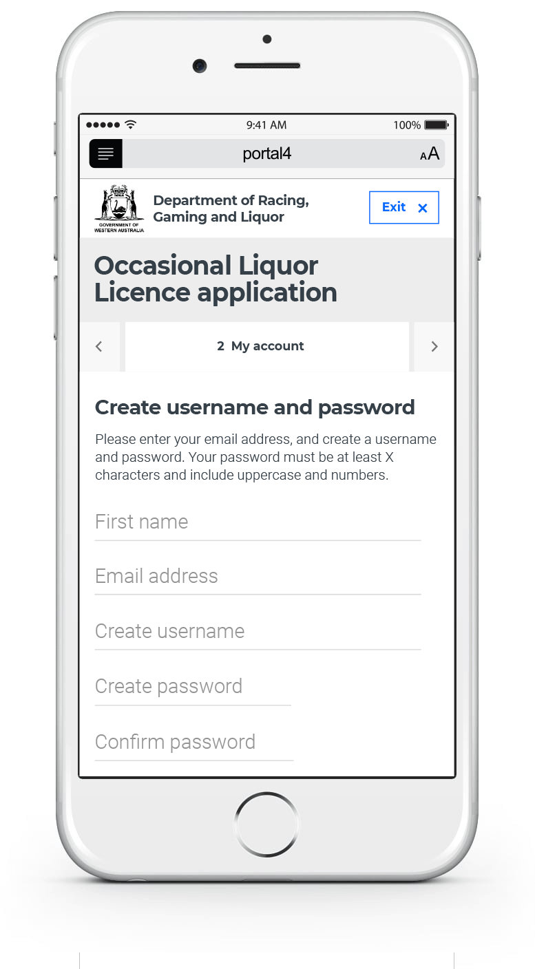 Licence Application - Outsystems