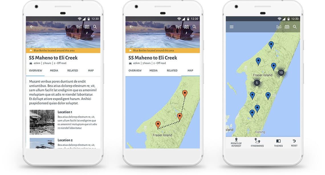 K'gari - Mobile Interface