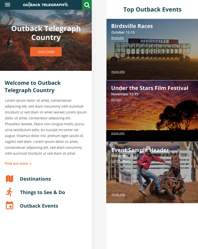 Outback Telegraph - Website Preview