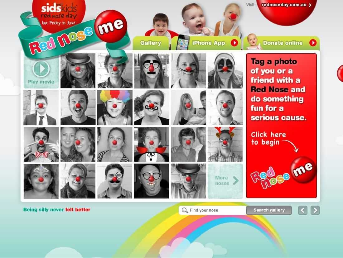 Red Nose - Website interface