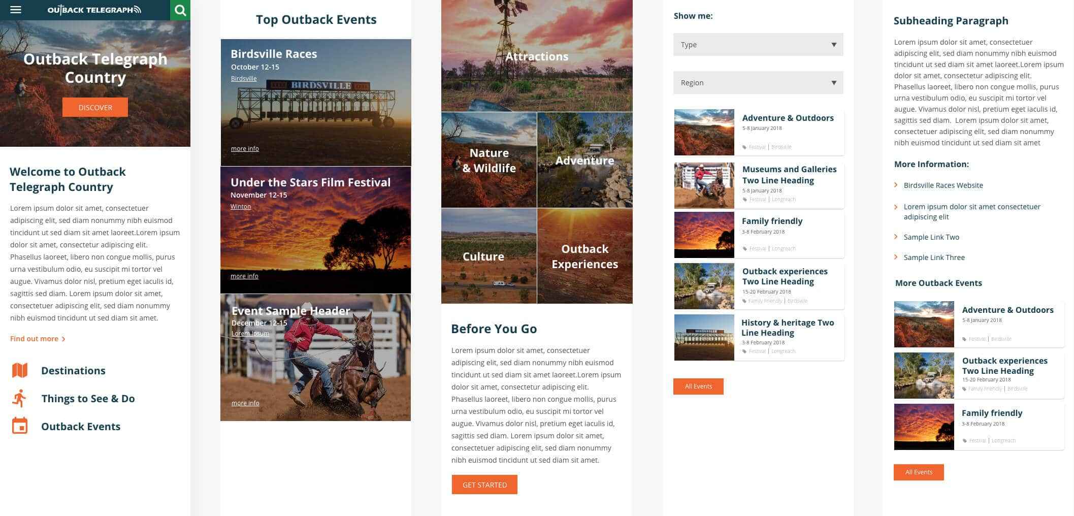 Outback Telegraph - Website Preview 2